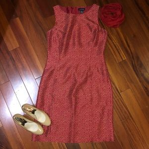 Ann Taylor Dresses - Ann Taylor Silk Red Polka Dot Dress